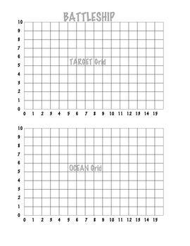 Coordinate Grid Battleship (1 Quadrant)   ELA   Pinterest ...