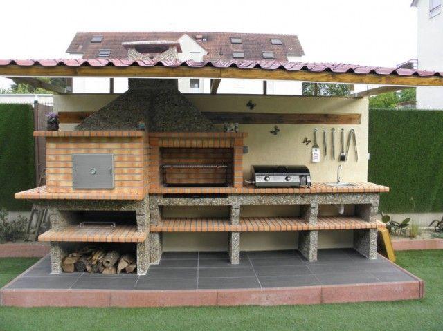 Four a Pain et Barbecue en Brique avec évier AV358F barbecue