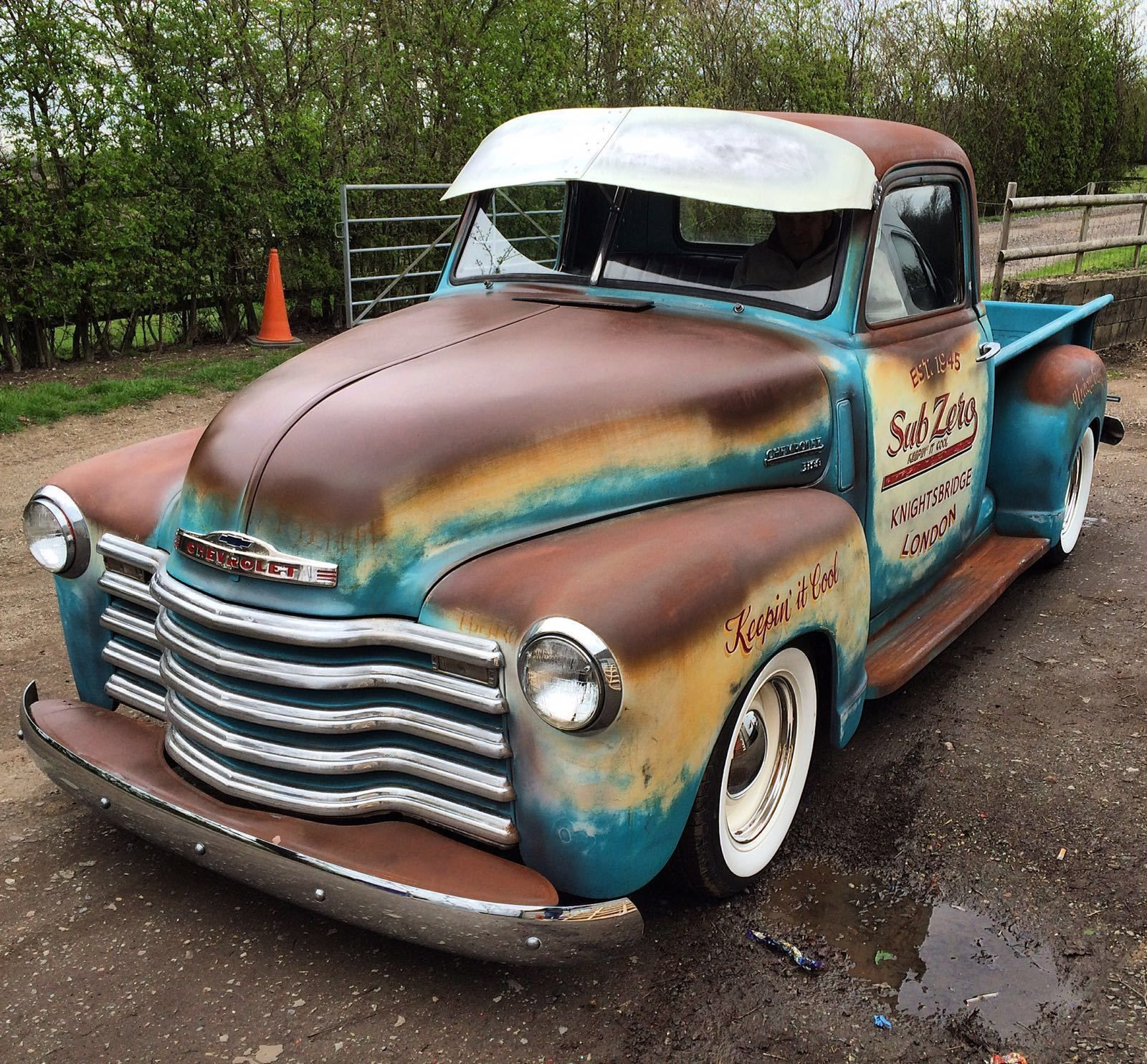 1949 Chevrolet 3100 Pickup Truck UK Registered 350 V8 Ratrod Patina  | eBay