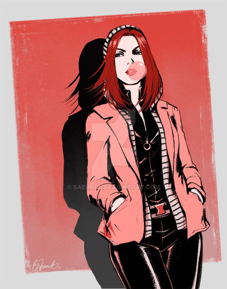 Inspired by her look in Winter Soldier, with a little classic shiny suit thrown in
