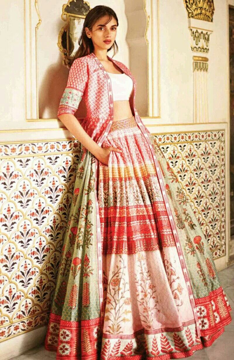 Lehenga With Long Jacket Cuts Patterns Designs In 2019 Indian
