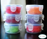 Koolaid  play dough: for a fun gift and surprise, make up the dry ingredients and package with a note of wet ingredients. Color will be revealed when made.