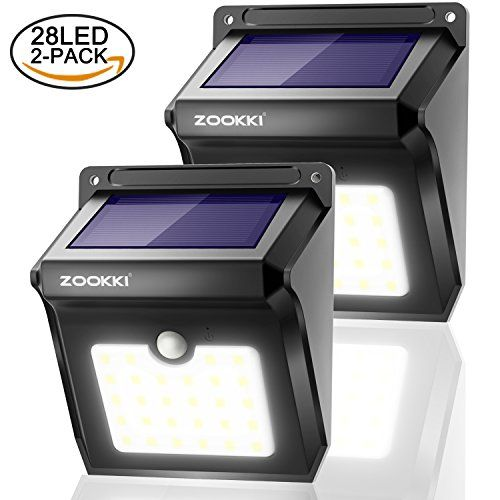 Zookki Outdoor Solar Lights 28 Led 2 Pack Solar Powered
