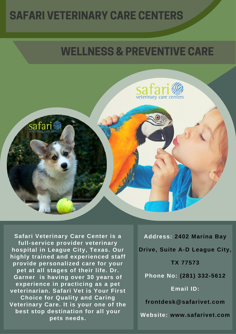 Safari Veterinary Care Centers Offers Complete Wellness And