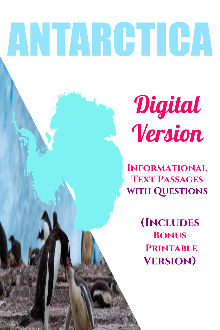 Looking For Lesson Materials On Antarctica Antarctica Informational Text Includes A Digital And A Geography Lessons Nonfiction Passages Text Based Questions [ 1102 x 735 Pixel ]