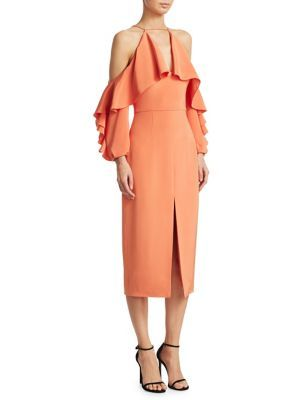 b5b78e10538c CUSHNIE ET OCHS Cold Shoulder Pencil Dress. #cushnieetochs #cloth ...