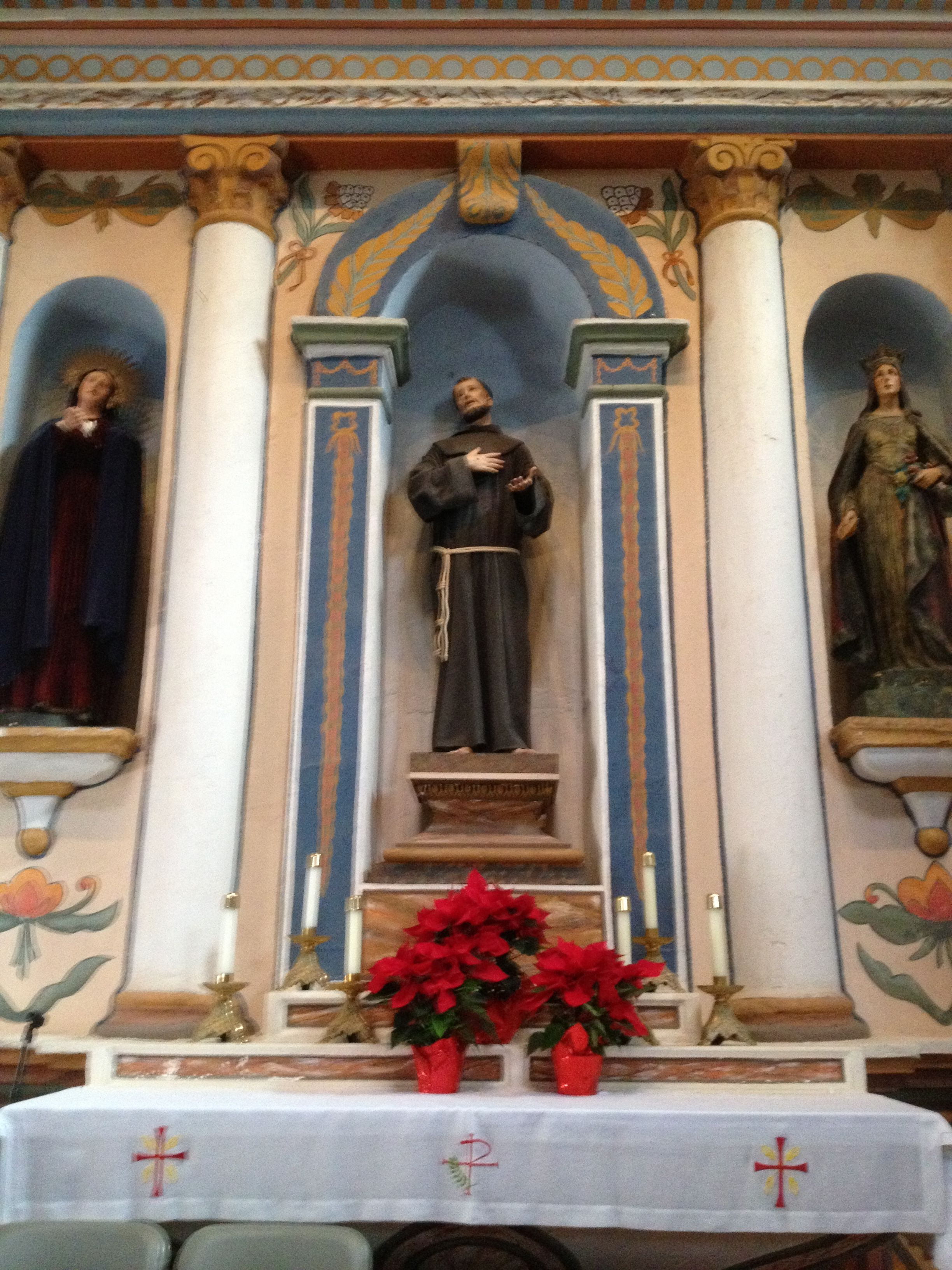 A Statue Of St Francis At The Church At Mission San Luis