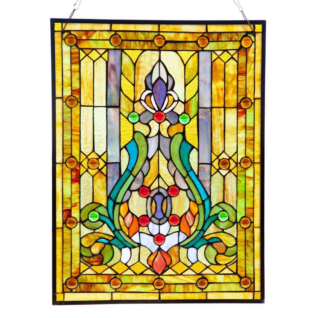 Fleur De Lis Stained Glass Window/Wall Panel, 25-Inch ~ available ...