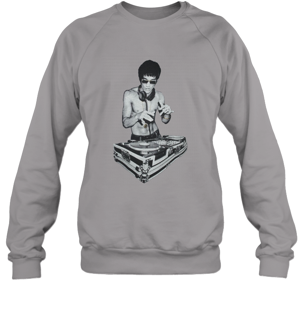 Bruce Lee Mens A Little Bruce Sweater