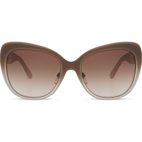 Burberry BE3087 Regent cat eye-frame sunglasses ($245) ❤ liked on ...