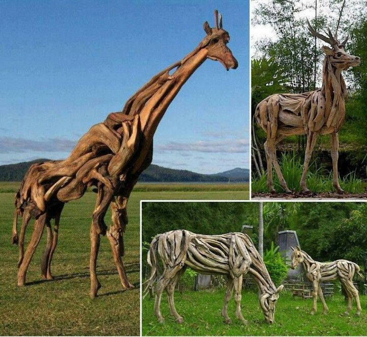 You could do driftwood giraffes!!  Just kidding.  LOL