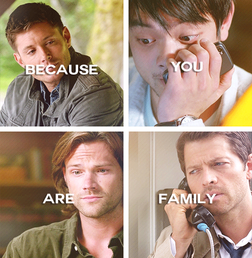Supernatural Quotes Family Don T End With Blood: Family Don't End At Blood