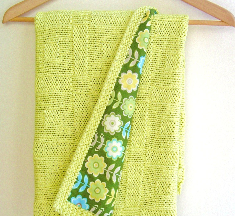 Knitting pattern Baby Blanket Easy Beginner Baby Blanket Pattern ...