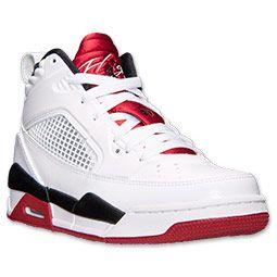Boys' Grade School Jordan Flight 9.5 Basketball Shoes   Finish Line   White/Black/Gym Red