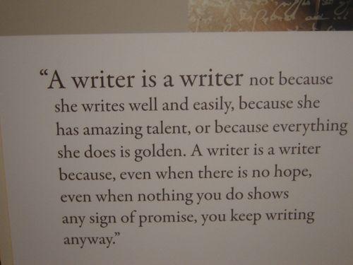 I want to write something
