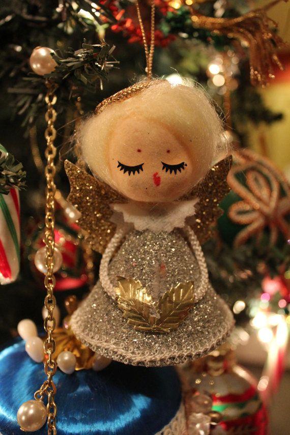 Vintage Angel Ornament 1960s Merry Christmas Vintage Vintage Christmas Ornaments Christmas Angels