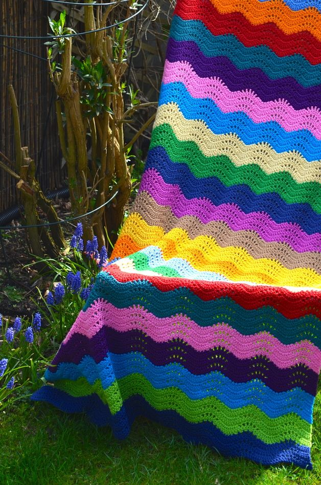 Häkelanleitung : ripple Decke made by Vicarno\'s mama Crochet designs ...