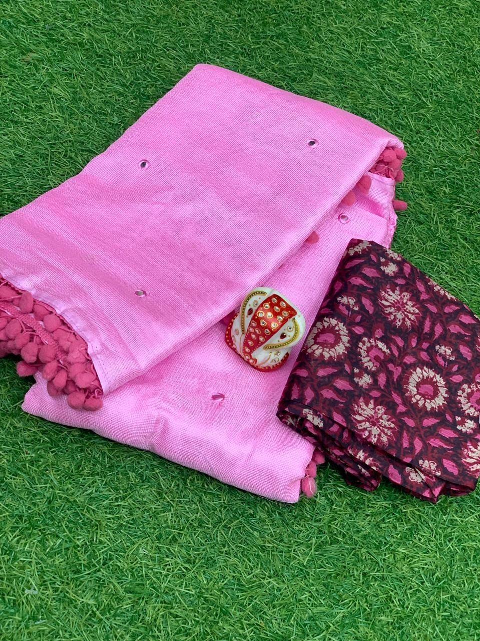 Utsav Fashion Majestic Pink Color Mirror Work Designer Saree In 2020 Utsav Fashion Saree Designs Pink Color