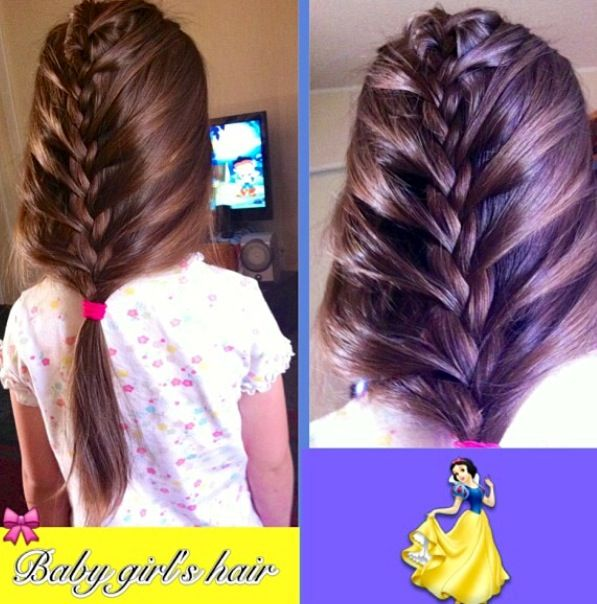 Lose French braid on my daughter, Celine.  #frenchbraids  #hairstyles #braids  #creative
