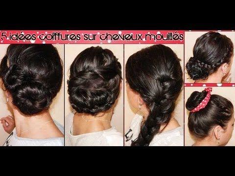 5 Idees Coiffures Sur Cheveux Mouilles L A Hairstyle Inspiration Idees De Coiffures Coiffure Cheveux