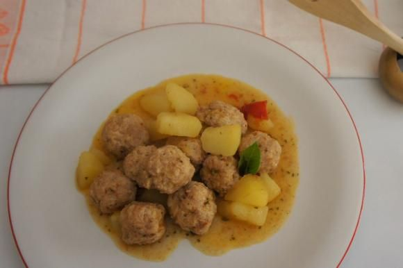 Photo of Stewed meatballs with potatoes