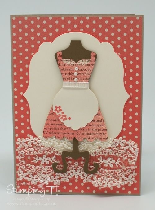 Tanya's stylish card uses All Dressed Up & its matching framelits, First Edition & In Color dsp, Labels framelits, & the Artisan Embellishment Kit (lace).