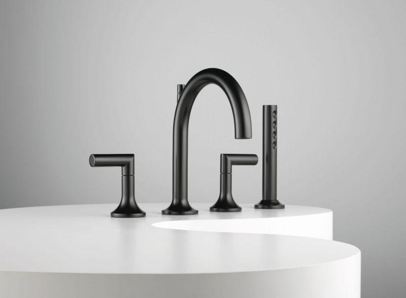 Mischbatterie in matter schwarzen Optik und Dusche Heizkörper - design heizkorper minimalistisch