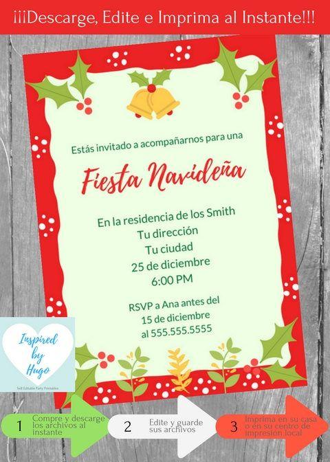 Invitación Fiesta Navideña Invitación Fiesta Familiar