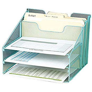 amazon com vanra metal mesh desktop file sorter organizer desk rh in pinterest com