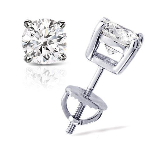 1/4 cttw Round Diamond 4-Prong Stud Earrings Platinum with Screw Backs (G-H Color, VS1-VS2 Clarity) Banvari. $573.50. This product comes with a FREE Luxurious Cherrywood Gift Box.. Made in USA, comes with a FREE certificate of authenticity.. All our gold items are responsibly sourced and the majority is made from environmentally processed recycled gold.. All diamonds used in our jewelry are conflict free and 100% in compliance with the Kimberly Code of Conduct.. Free P...
