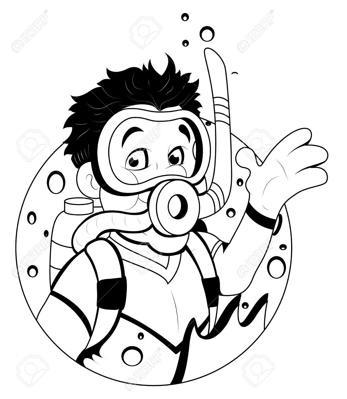 Cartoon Scuba Diver Scuba Diver Cartoon Scuba