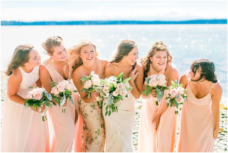 Kayak Point Backyard Wedding Blush pink bridesmaid