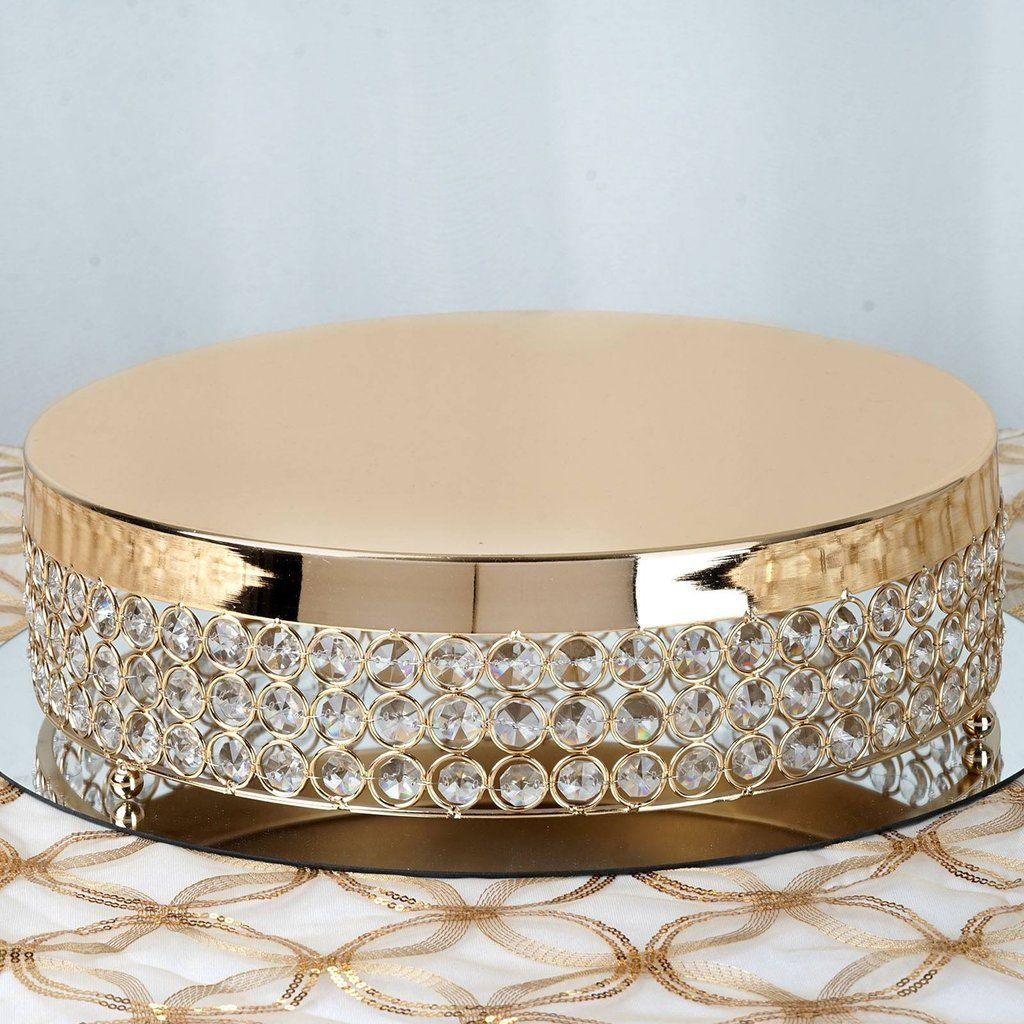 13 gold crystal beaded metal riser cake stand in 2021