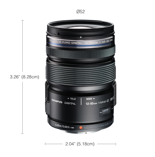 Olympus Store Ca M Zuiko 12 50mm F3 5 6 3 Ez Weatherproof Electronic Zoom Lens Olympus Nikon Eos