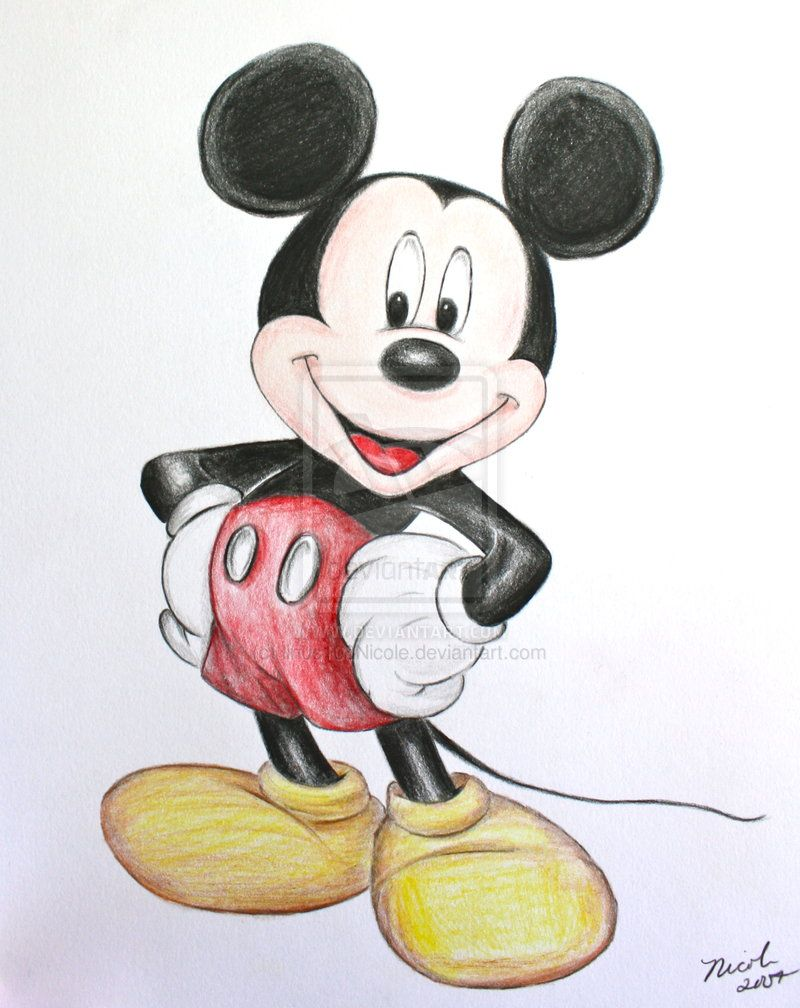 Mickey Mouse Color By Linus108nicole On Deviantart Mickey Mouse Drawings Mouse Color Mouse Drawing