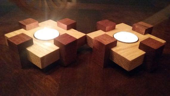 Decorative Tea Light Candle Holders от TheWoodshopPlace на Etsy