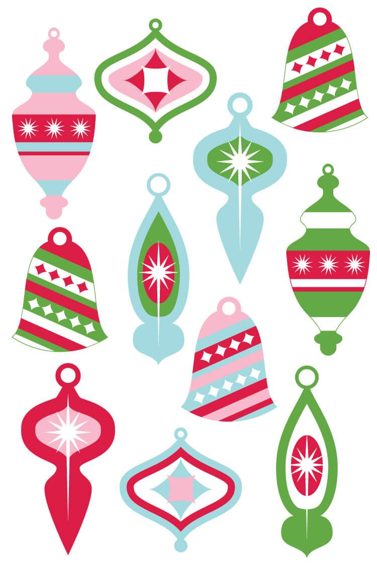 Vintage Christmas Ornament Clip Art In 2020 Printable Christmas Ornaments Paper Christmas Ornaments Clip Art Freebies
