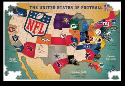 Usa Team Map Nfl Maps Jigsaw Puzzle Map Of Usa Nfl Teams Games - Us-map-nfl-teams