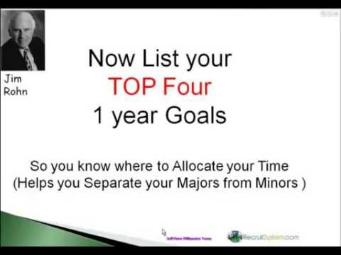 2012 Goal Setting Workshop By Jim Rohn Hosted By Jeff Fiore Millionaire Team Youtube Goals You Know Where