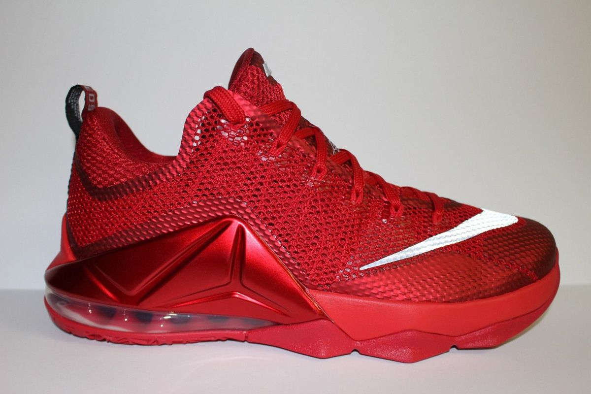 """Nike LeBron 12 Low """"Red & 3M"""" (All Over ..."""