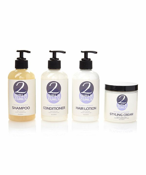 Look at this 2 Girls with Curls Shampoo, Conditioner, Styling Cream & Hair Lotion Set on #zulily today!