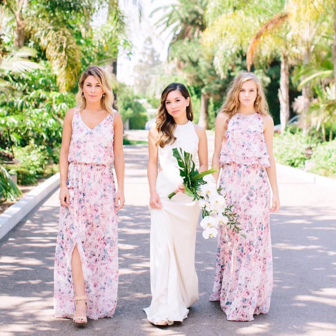 Tropical wedding vibes with our greenweddingshoes floral tropical wedding vibes with our greenweddingshoes floral bridesmaid dresses ombrellifo Image collections