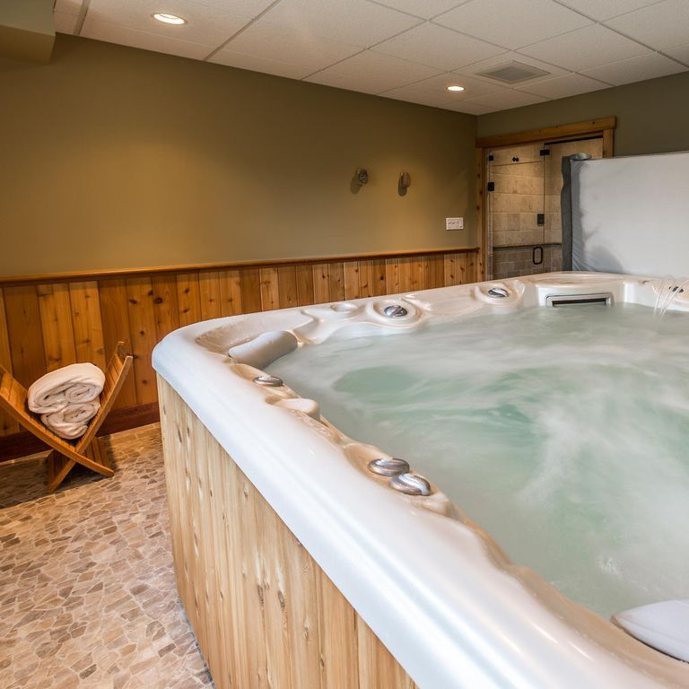 Unique Hot Tub In Basement