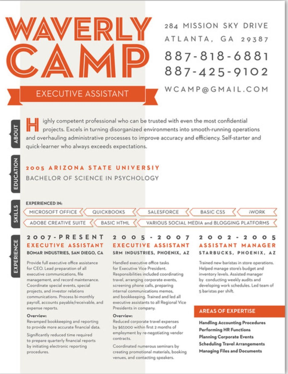 Resume design - I like the side bars, skills section, and the ...