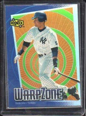 2000 Ud Ionix Warp Zone Wz8 Derek Jeter Collector Revolution Sports Cards Derek Jeter Baseball Cards