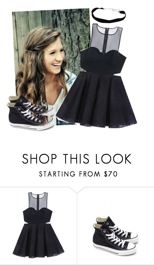 """""""Avril lavigne-girlfriend music video-the girl"""" by bountymeetsfobwonderland ❤ liked on Polyvore featuring Bebe and Converse"""