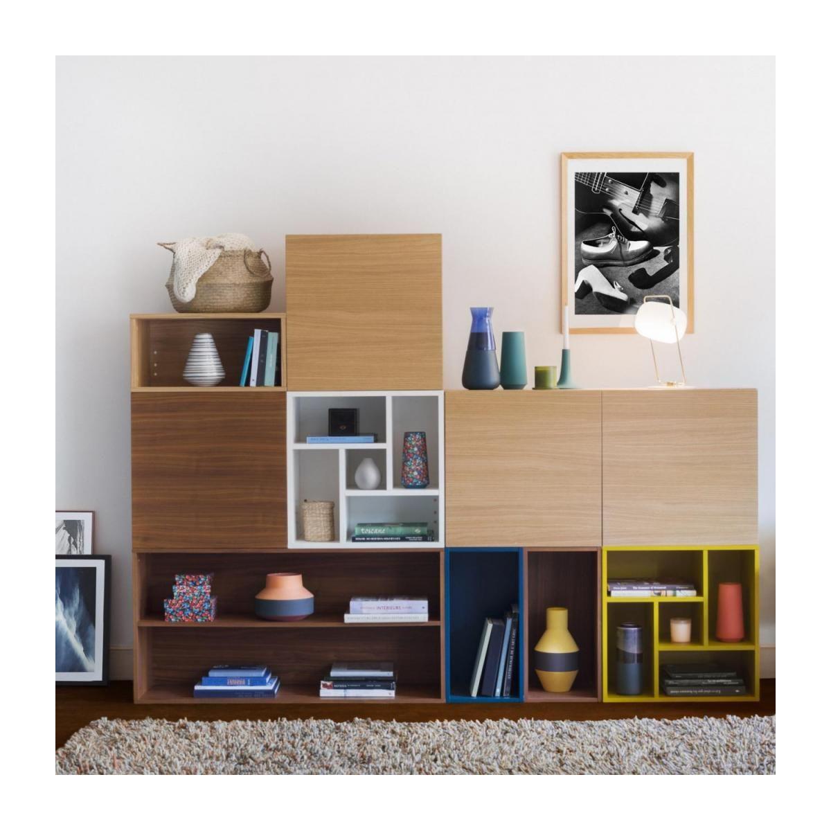 Macao Caisson Cube Ouvert Jaune Design By Helena Pille Meuble Habitat Meuble Cube Mobilier De Salon