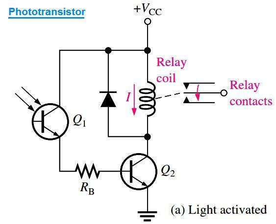 Phototransistor Circuit Example | Circuit, Circuit diagram