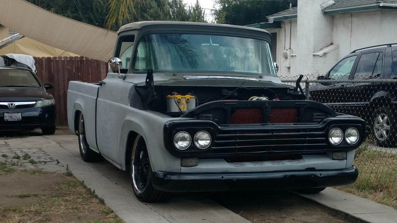 Updated F100 After Crown Victoria Swap With Disk Breaks And Power Steering 6 8 17 Pickup Trucks Ford Trucks Trucks