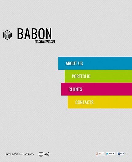 Babon Design Facebook Flash CMS Templates by Ares
